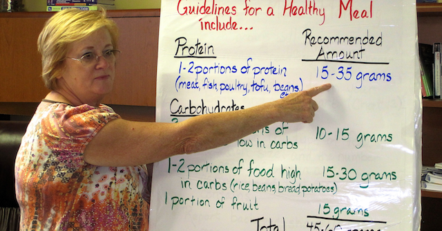 Janet Teaching Nutrition